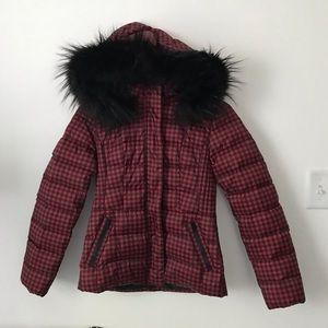 NWOT Talbots Coat with Fur Hood